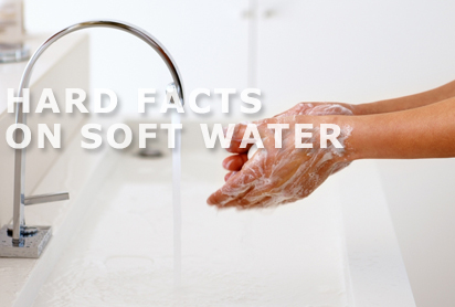 washing hands soft water